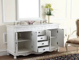 Corian Bathroom Vanity by Adelina 63 Inch White Antique Double Bathroom Vanity Fully Assembled