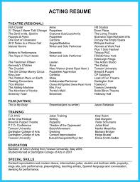 Resume Format For Applying Job Abroad by Best 25 Acting Resume Template Ideas On Pinterest Resume