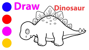 how to draw a dinosaur coloring pages draw a dinosaur step by step
