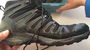 hiking boots s canada reviews water proof test on salomon x ultra mid ii gtx hiking boots review