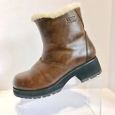 s ugg australia brown grandle boots ugg australia zip med 1 in to 2 3 4 in boots for ebay