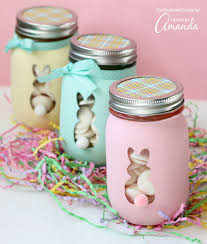 easter bunny jars an adorable and easy easter craft