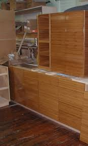 Bamboo Cabinets Kitchen Fascinating Bamboo Kitchen Cabinets With Red Color Kitchen