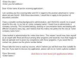 document controller job application letter example learnist org