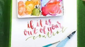 watercolor brush lettering tools techniques u0026 multiple methods