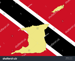 Map Of Trinidad Map Trinidad Tobago Trinidadian Flag Illustration Stock Vector