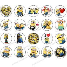 minions cake toppers aliexpress buy wafer paper for cup cake topper minion