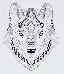 efie goes zentangle wolf van ben kwok zentangle from efie