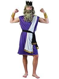 mens greek grecian sea god king neptune fancy dress toga costume