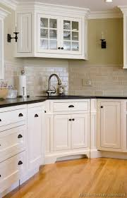 Trendy Corner Space With Various by Pictures Of Kitchens Traditional Two Tone Kitchen Cabinets