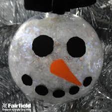 diy snowman ornament fairfield world