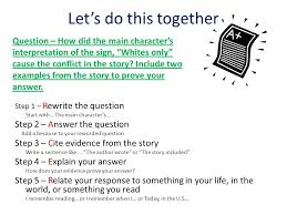 r a c e r a writing strategy 1 restate the question use the