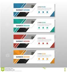 layout banner design orange abstract triangle corporate business banner template