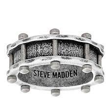 mens stainless steel rings steve madden men s rivet design stainless steel band ring