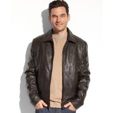 tommy hilfiger faux leather jacket in brown for men lyst