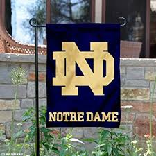notre dame garden flag and yard banner sports fan