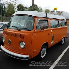 orange volkswagen van the orange bus