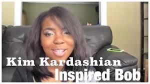kim kardashian inspired long bob styling youtube