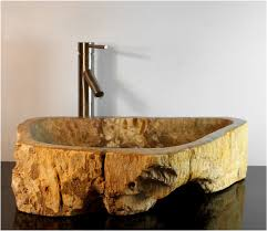 petrified wood basin sink vessel bathroom counter top by the kings