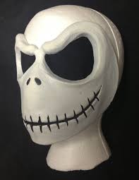 malmey studios jack skellington face mask prosthetic this is