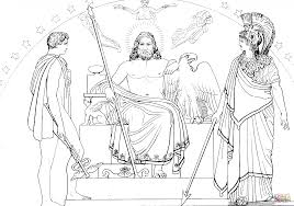 hermes zeus and athena coloring page free printable coloring pages