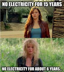Electricity Meme - no electricity for 15 years no electricity for about 6 years