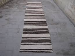Black And White Striped Runner Rug Minimalist Striped Kilim Runner Minimalist Hallway Runner Kilim