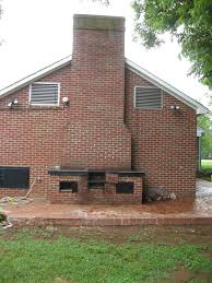 Built In Bbq Barbecue Master Old Home Place Built In Barbecue On Back Porch