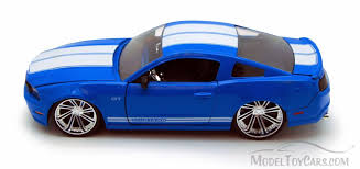 ford mustang gt white stripes 2010 ford mustang gt top blue w white stripes toys