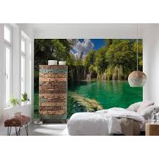 komar nature eden falls wall mural 8 533 the home depot komar nature eden falls wall mural