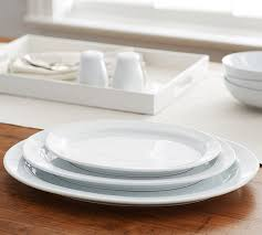 great white oval serving platters pottery barn