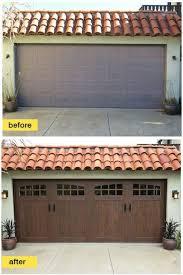 2 Door Garage Garage Door Makeover Ideas Garrdenoflove