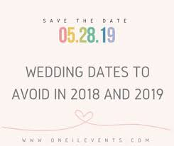 how to start planning a wedding how to start planning a wedding dates to avoid in 2018 and 2019