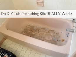 bathtub refinishing kit guide diy bathroom update curbly