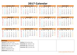 2017 Yearly Calendar Printable Templates – Webelations