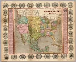 1820 Map Of United States by Map Of The United States Mexico Oregon Texas The Californias