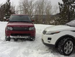 land rover sport 2012 throwback thursday 2012 range rover sport vs evoque snow
