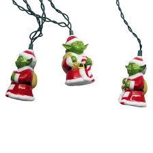 wars 10ct santa yoda string lights target