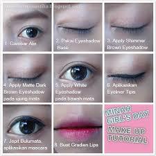 tutorial make up mata sipit ala korea pinastika beauty blog fotd tutorial girl s day minah