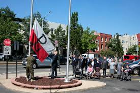 Union Of The Flag The Flag Of The Polish Underground Waves Over New York Polish