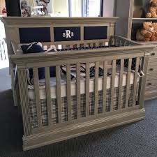 fabric panel crib trinity chateau gray crib ships with