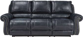 Loveseat Recliner With Console Milhaven Navy Reclining Sofa From Ashley Coleman Furniture