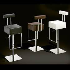 Gas Lift Bar Table Sam Chrome Gas Lift Stool Leather Bar Stools For Cafes Bistros