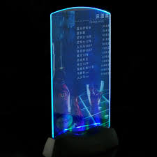 acrylic led light menu holder specials advertisements display led