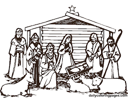 6 images christmas nativity scene coloring printable