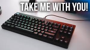 logitech u0027s ultra compact tkl gaming keyboard youtube