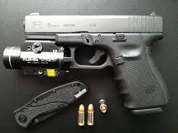 glock 19 light and laser glock 19 gen 4 compact 9mm 4 barrel 15 1 rounds with streamlight