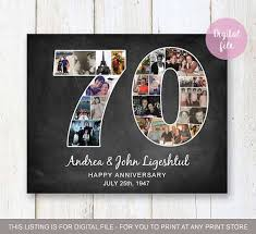 70th anniversary gift photo collage 70th anniversary gift for parents grandparents