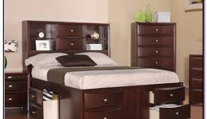 king size headboard with storage and lights bedroom decoration