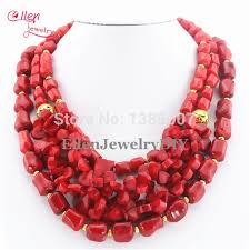 coral necklace images Red coral necklace holiday party necklace nigerian wedding beads jpg
